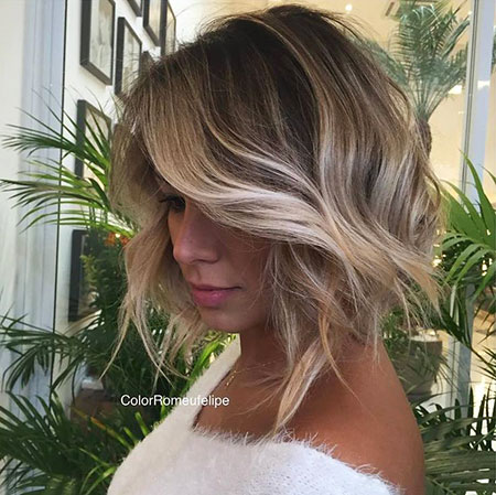 Blonde Balayage Bob Red