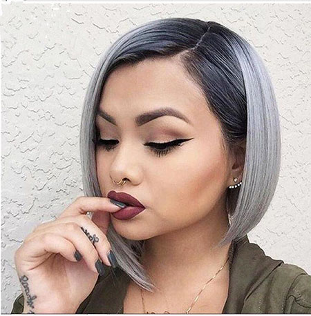 Makeup Gray Black Ombre