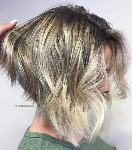 Bob Blonde Angled Layered