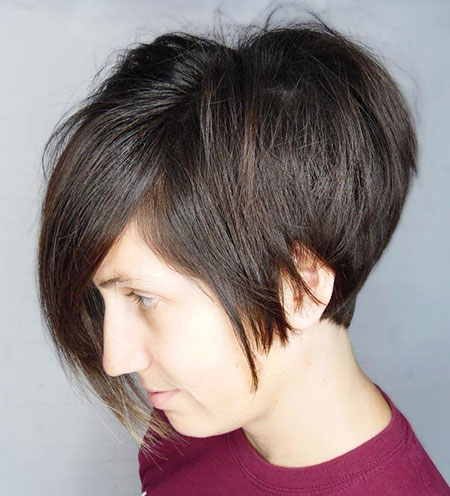 Layered Short Bangs Bob