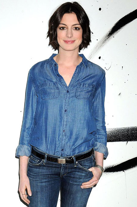 Denim Anne Hathaway Shirt