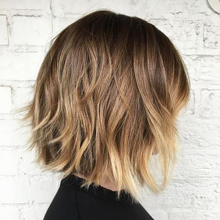 Bob Choppy Balayage Blonde