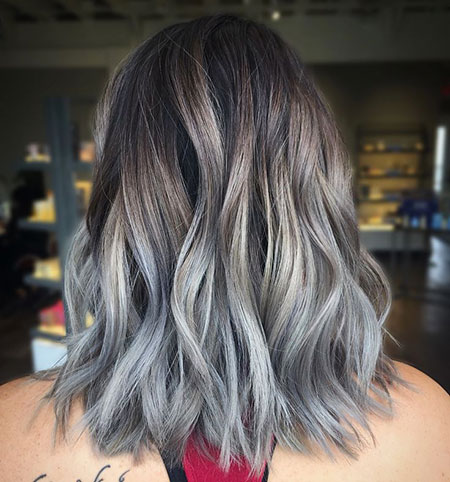 Balayage Hair Blonde Grey