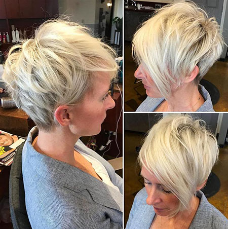 Pixie Blonde Long Bangs