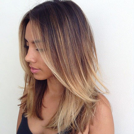 Balayage Hair Medium Length