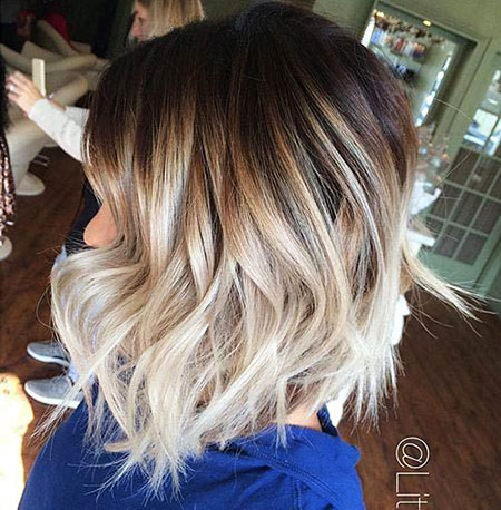 Brown to Blonde Ombre, Blonde Balayage Hair Bob