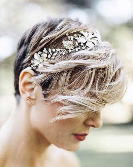 Pixie Cut for Wedding, Wedding Hair Coiffure Hairtyles