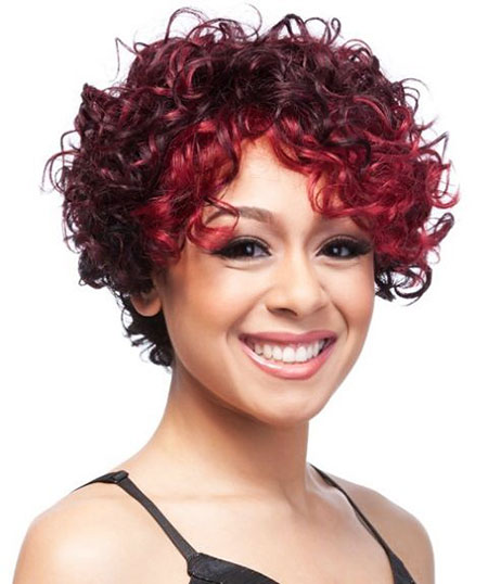 Red Colored Curly Hair, Curly Hair Faces Black