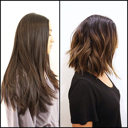 Layered Lob for Thick Hair, Hair Soft Thick Color