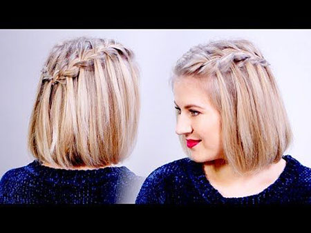 Waterfall Braid, Hair Blonde Braid Hairtyles