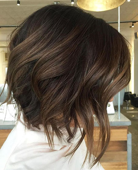 Bob Brown Layered Hair