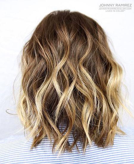 Balayage Hair Lob Bronde