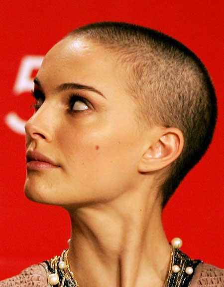 Natalie Portman Shaved Makeup