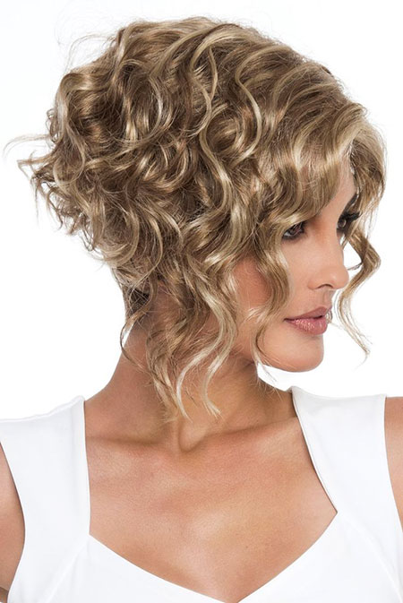Curly Hair Bob Angled