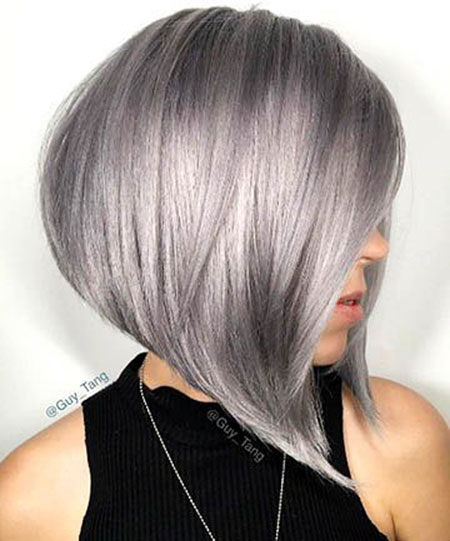 Short Silver Hair Gray