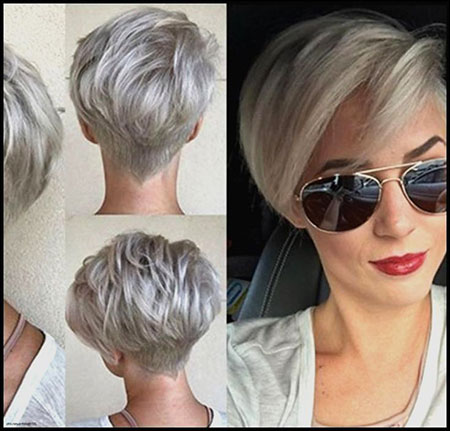 Pixie Gray Choppy Short