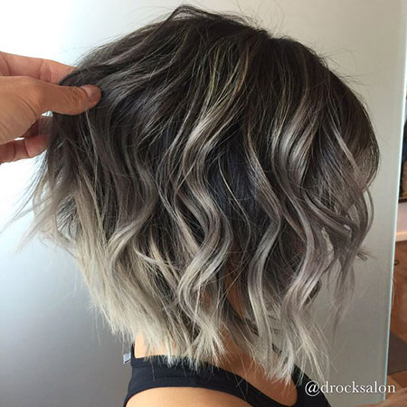 Grey Ombre, Bronde Hair Balayage Color