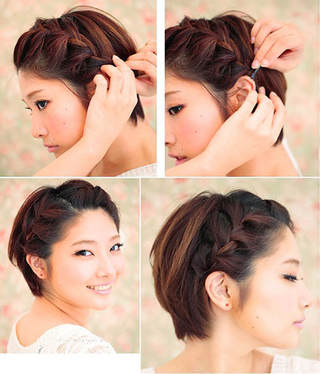Long Pixie with Braid, Hair Long Pixie Braid