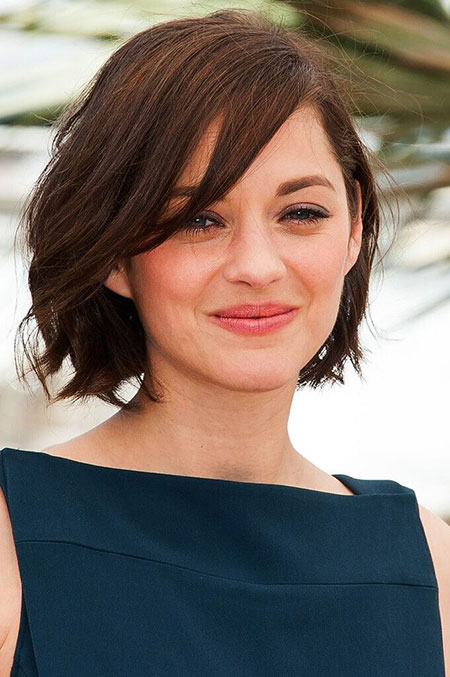 Side Swept Short Hair, Hair Short Face Wavy