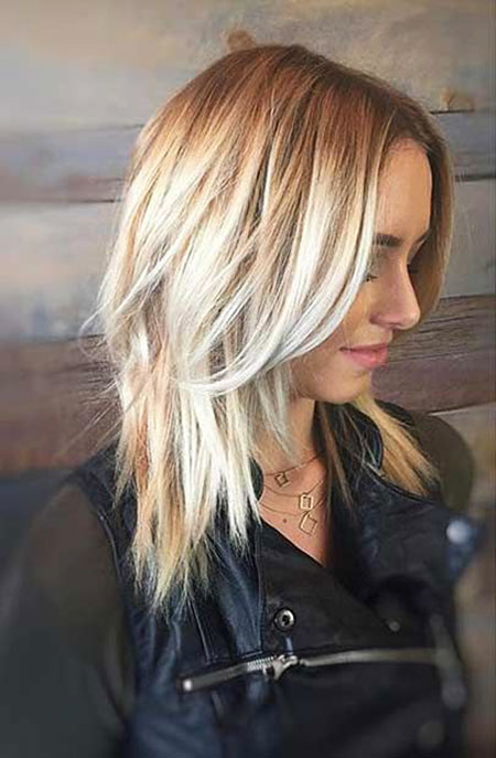 Blonde Layered Haircuts, Blonde Tousled Bob Medium