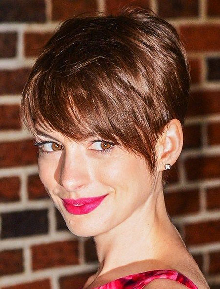 Brown Short Pixie, Pixie Hair Short Pink