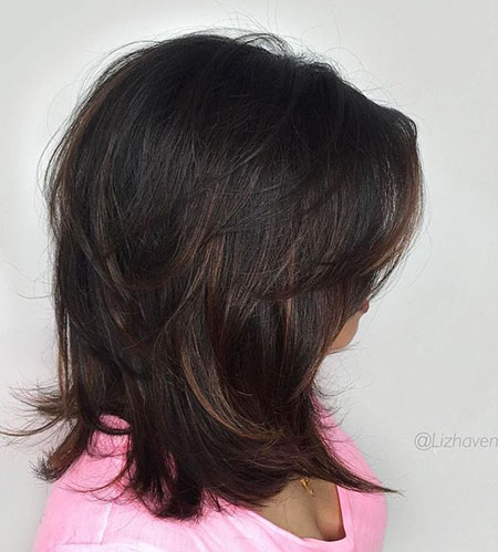 Shoulder Length Layered Haircut, Length Layered Shoulder Haircuts