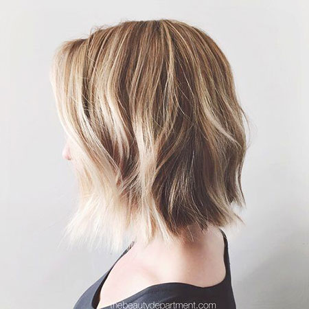 Short Dirty Blonde Hair Style, Blonde Bob Choppy Balayage