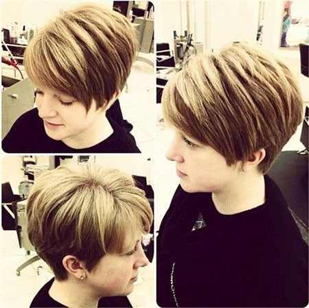 Stacked Pixie Bob, Pixie Short Women Hair