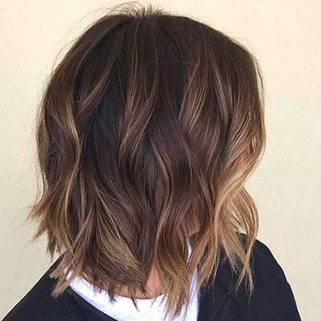Balayage Bob Hair Brown