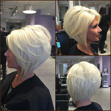 Bob Layered Blonde Angled