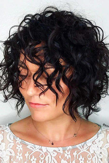 Bob Curly Hair Trendy