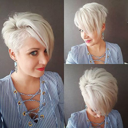 Short Layered Hair Silver