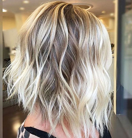 Blonde Balayage Choppy Color