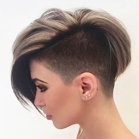 Short Edgy Hairtyle for Thick Hair, Pixie Women Long Edgy