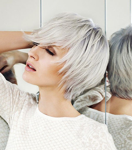 Short White Hairtyle, Silver Blonde Hair Uk