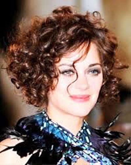 Curly Hair Short Fat