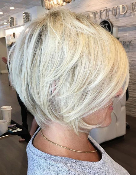 Blonde Bob Pixie Layered