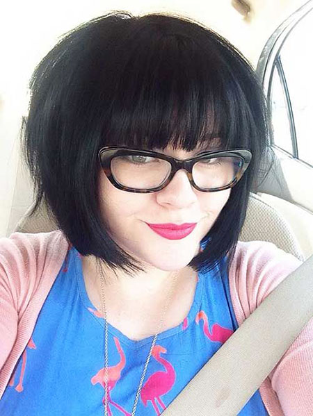 Long Bangs Bob Hairtyles