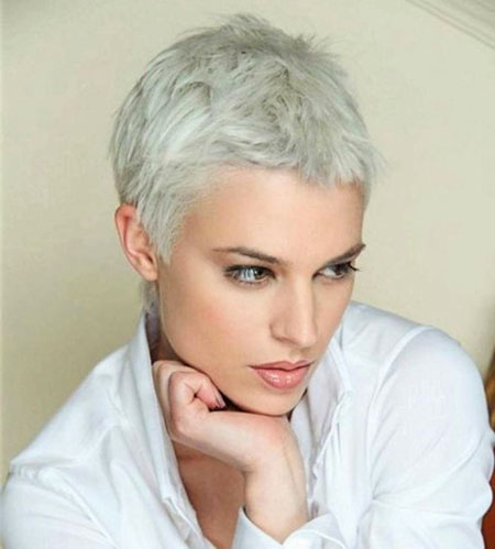 Pixie Short Gray Silver