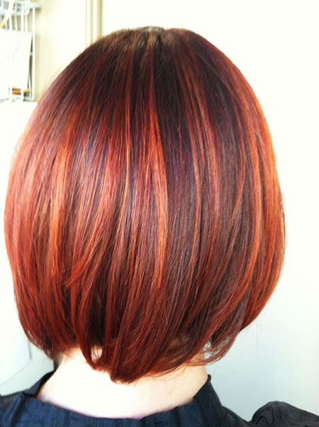 Hair Layered Copper Highlights