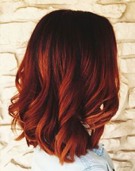 Hair Ombre Red Balayage