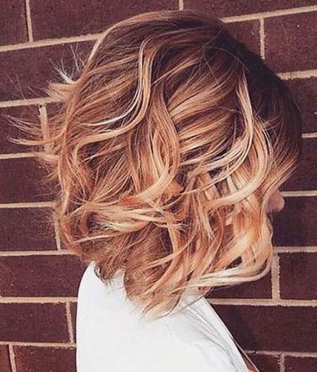 Hair Bob Wavy Color