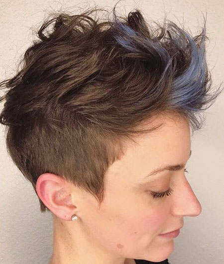 Pixie Undercut Choppy Cut
