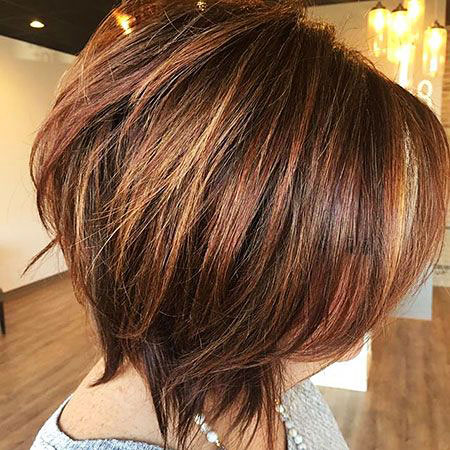 Bob Hair Brown Layered