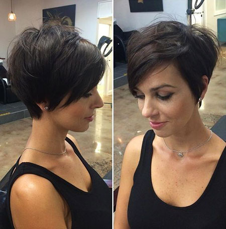 Pixie Layered Short Bangs