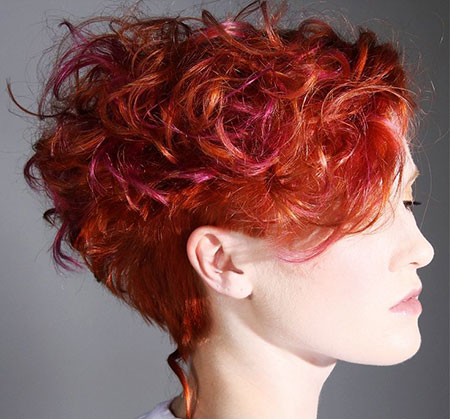 Curly Short Red Wavy