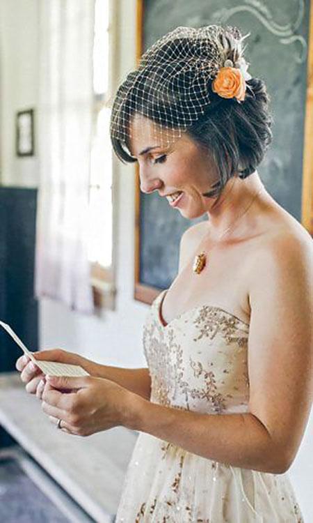 Wedding Veil Birdcage 45