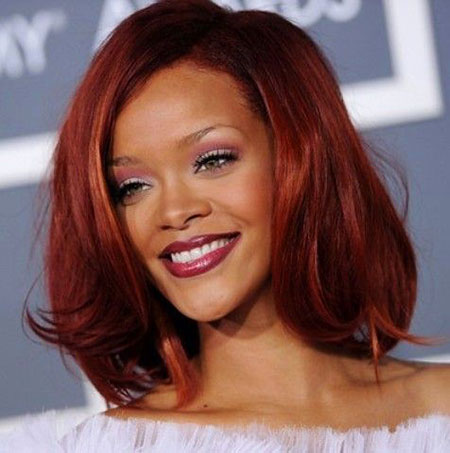 Hair Red Rihanna Bob