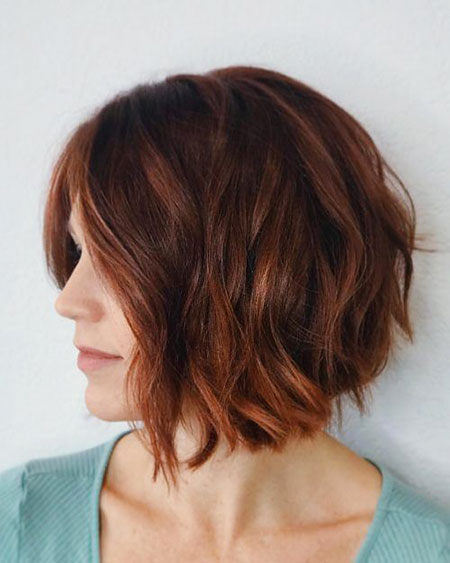 Wavy Bob Style, Bob Choppy Brown Hairtyles