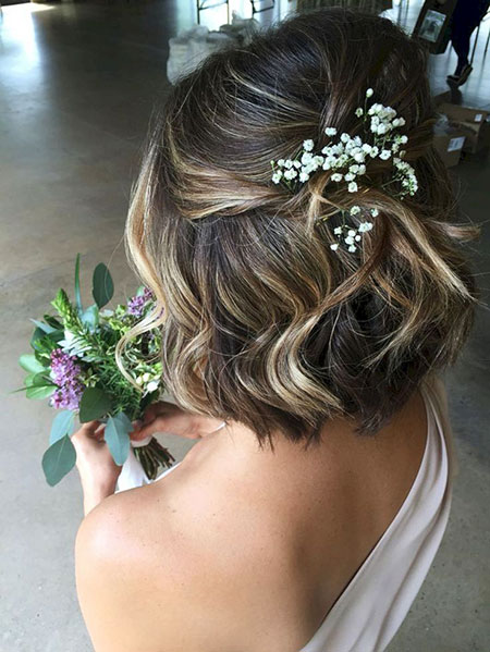 Cute Updo for Bob, Hair Wedding Updo Bridal